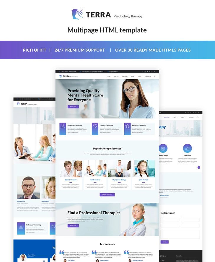 Do you work as a psychologist? Are you interested in providing highly efficient mental healthcare to your clients? Do you want to set up a website to showcase your body of work? Then, we have a solution for you! With Our wonderful template, you will be able to build an incredible website and get a ton of new customers! Feel like changing the appearance of your website. Our templates are incredibly customizable! Need to share statements from satisfied customers? With our template, setting up test