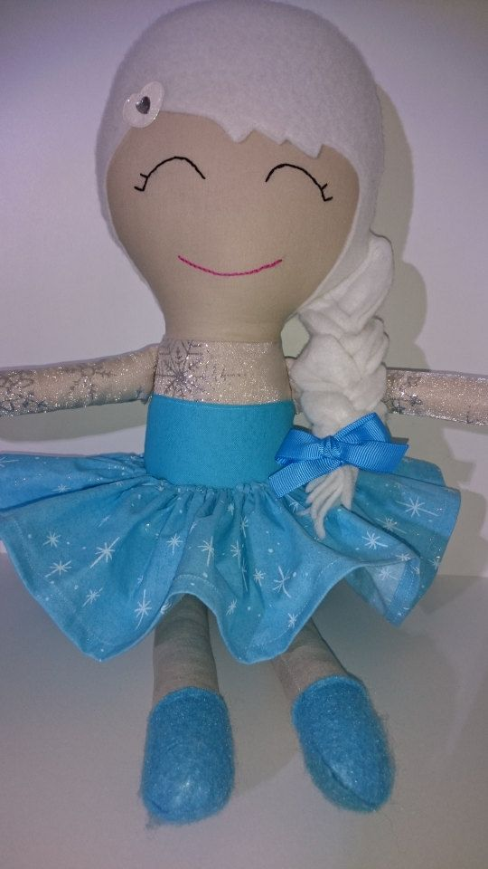 Handmade Elsa inspired doll by TheTuppenceTree on Etsy