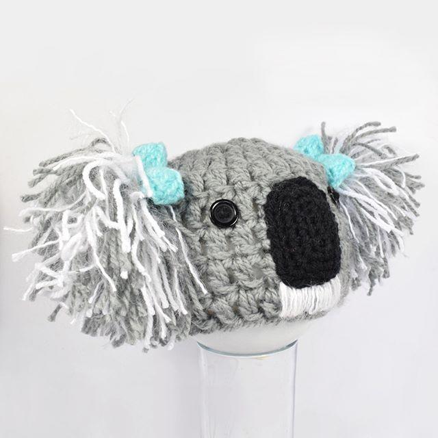 Fluffy Koala Babe Beanie www.kbeanies.com