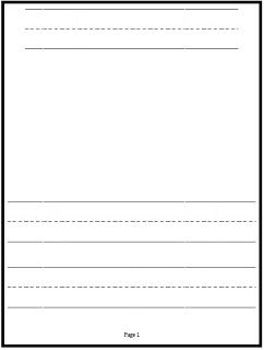 Classroom Freebies: Kindergarten Writing Paper!