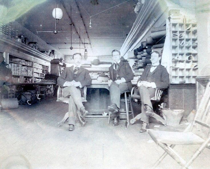 K485 Vtg Photo VICTORIAN GENTLEMEN INTERIOR OF FAMILY STORE, PA c 1908  | eBay