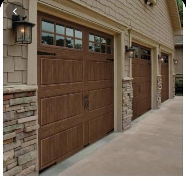 Pin By Roger Bartholome On Home Garage Door Design Brick Exterior House Garage Doors