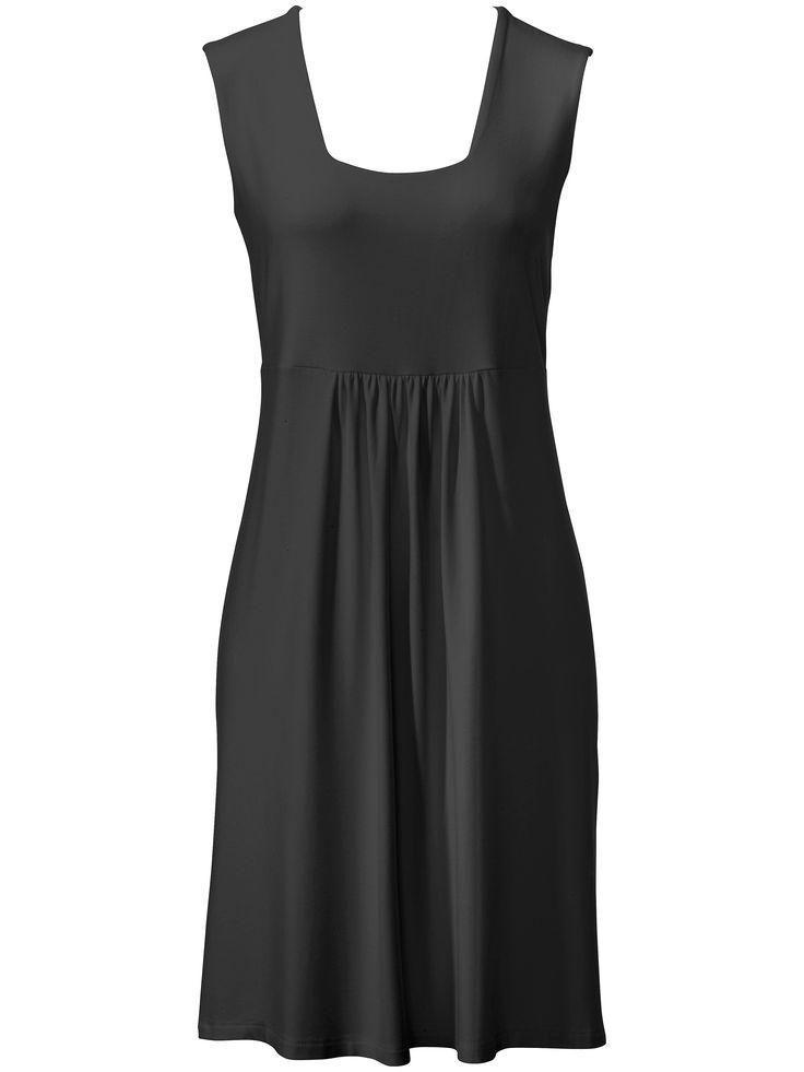 Leichtes Sommerkleid Karree-Ausschnitt Peter Hahn schwarz Größe: 38