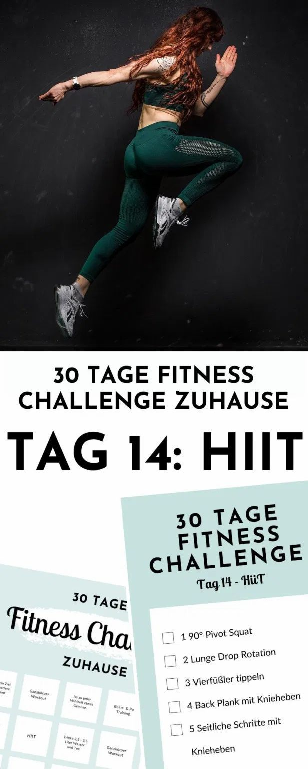 30 Tage Fitness Challenge zuhause - Tag 14: HIIT