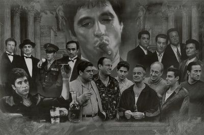 Gangsters Collage Godfather Goodfellas Scarface Sopranos Movie Poster Print Poster at AllPosters.com
