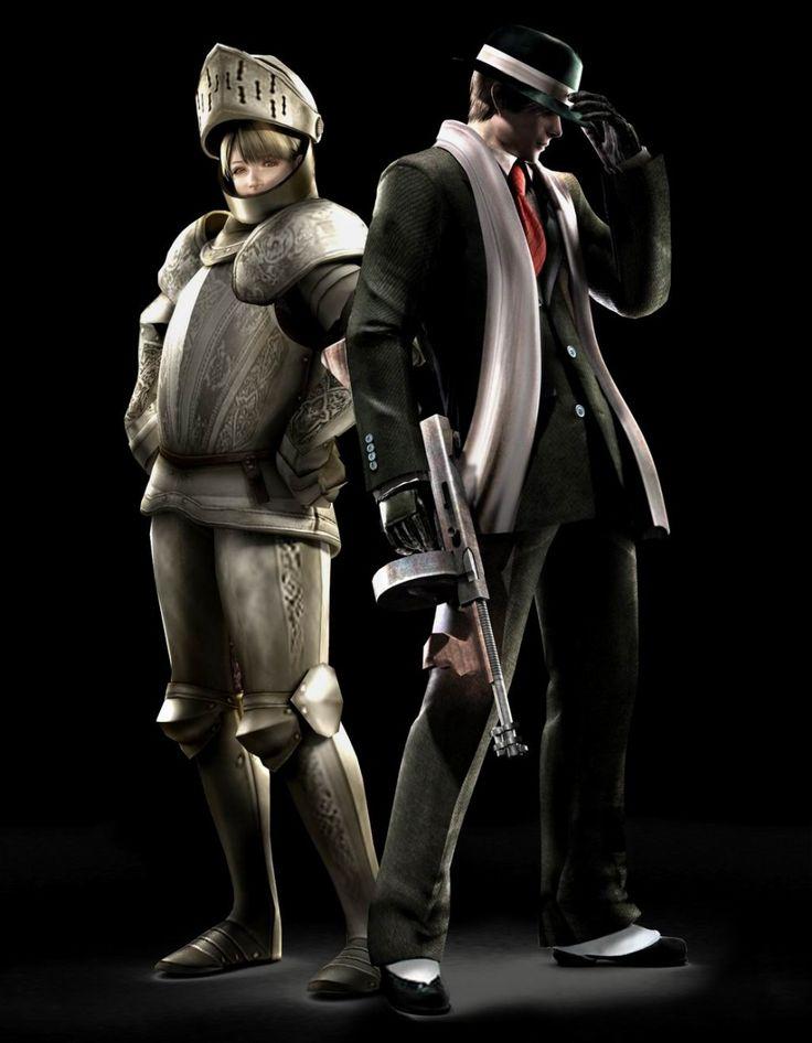 Resident Evil 4...desbloqueé este traje,,,en qué hora, lo siento, Leon Scott Kennedy...cada vez que tienes que coger a Ashley en volandas...puro lumbago...Sorry, Leon.