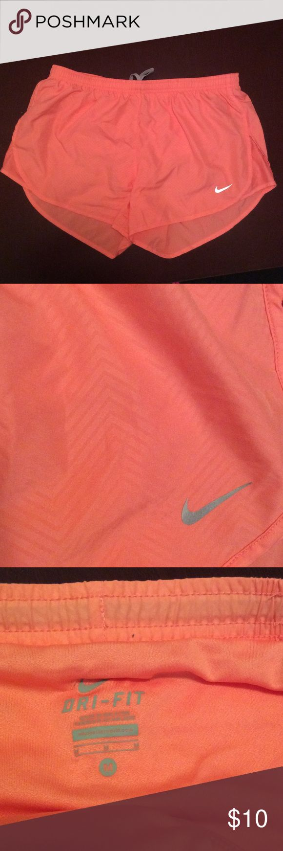 Nike Dri-Fit peach shorts sz M Only worn a few times. In very good used condition. Nike Shorts