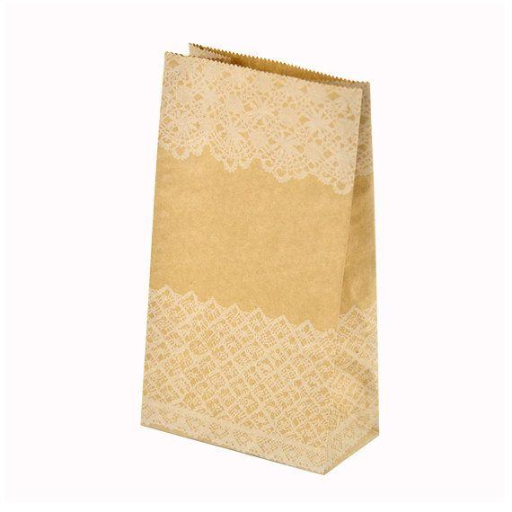 24,84+8,49 5x12x7cm 50pc Pizzo bianco Kraft sacchetti di carta sacchetti di yanfengpaint