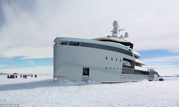 Damen Group has unveiled plans for the SeaXplorer superyacht, which is capable of breaking through ice in remote destinations.