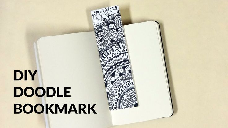DIY Doodle Bookmark  things required- pen, paper, patience!!!