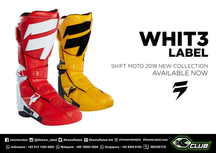SHIFT MX | WHIT3 LABEL Boots  SHIFT MX18 Collection IS HERE!  Available now in all XCLUB leading stores | tinyurl.com/ycgysj4n |  #xtremerated #xclub #shiftmx #boot #mxboot #dirtbike #trailadvanture