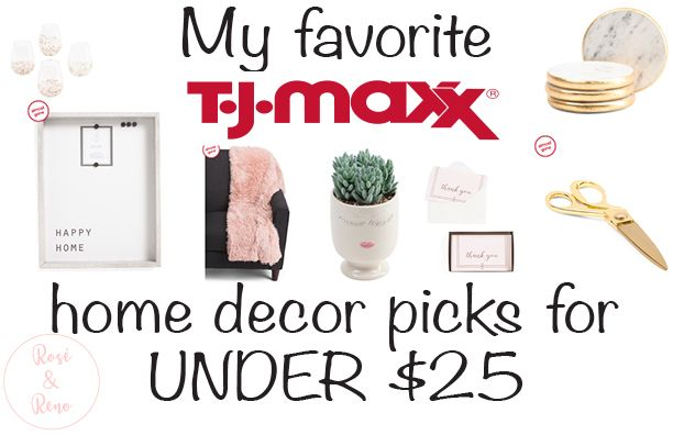These are some of my favorite picks from TJ Maxx to decorate your home! #shop #gold #TJMaxx #Maxxinista #online #glam #gold #roséandreno