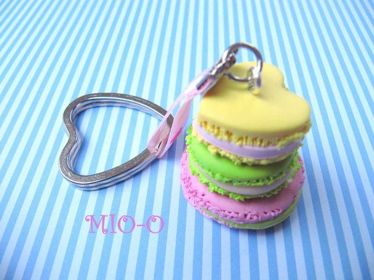 Schlüsselanhänger - Schlüsselanhänger Macarons - ein Designerstück von MIO-O bei DaWanda