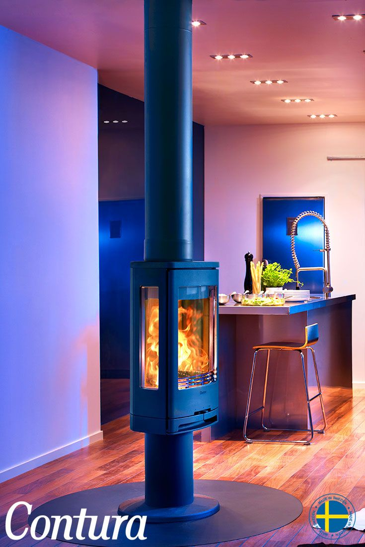 CONTURA 780 | Place the wood burning stove on a pillar and see even more of the already widely visible fire.