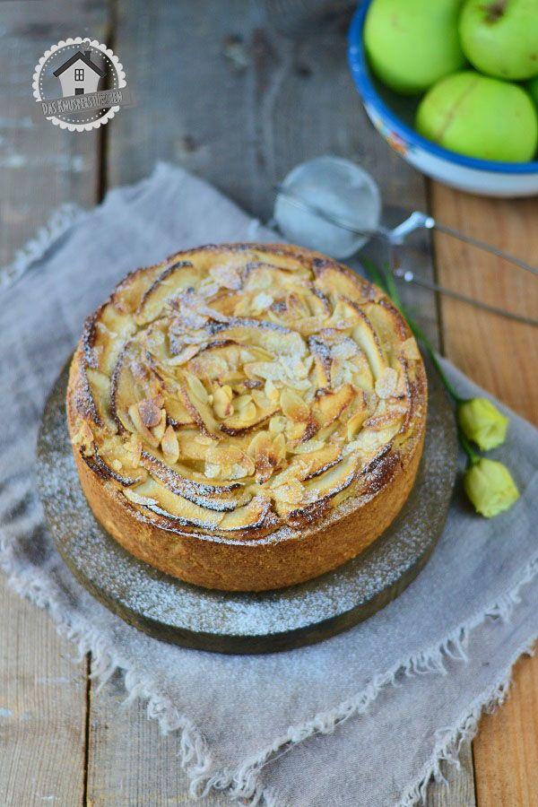 Apfel Mazarin Kuchen - Apple Mazarin Cake   Das Knusperstübchen