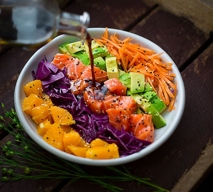 Color me healthy! Eat colorful foods for better health. This salmon salad bowl is packed with the array of fiber, vitamins and minerals,…