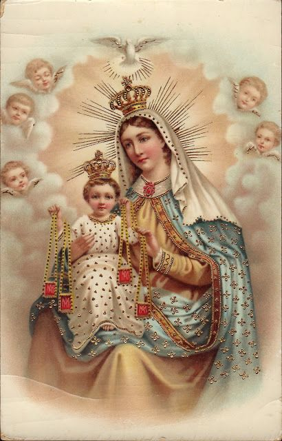 Our Lady of Mt. Carmel   from Holy Card Heaven