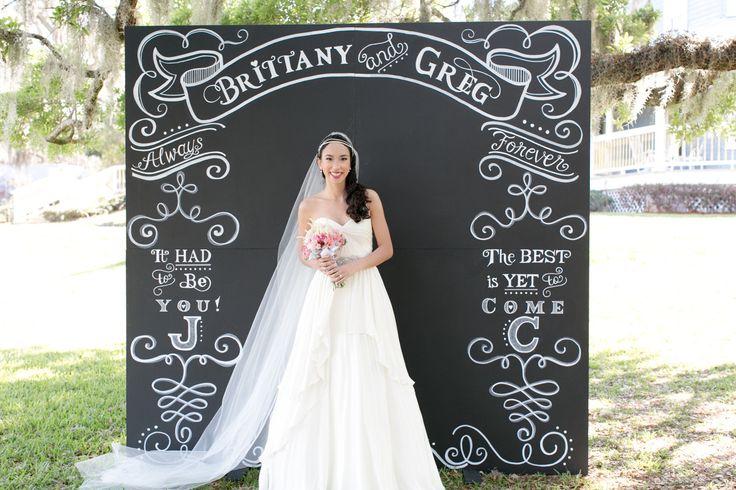 #signs, #chalkboard, #backdrop  Photography: Amalie Orrange Photography - amalieorrangephotography.com  Read More: http://www.stylemepretty.com/2014/04/18/raspberry-striped-wedding-inspiration/