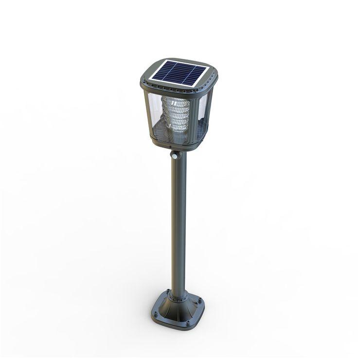 Lampioncino ad energia solare a luce calda, 200 lumen di flusso luminoso, dotato di sensore di movimento e sensore crepuscolare