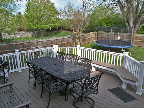 Decks With Bench Rail Vinyl Flooring And Deck Bench And Jen Kempkes