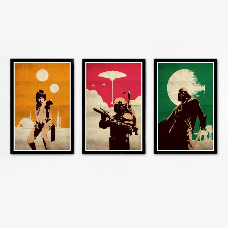 Star Wars Movie Art from Touch of Modern