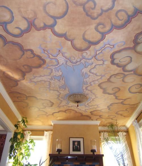 Best 25 ceiling murals ideas on pinterest starry for Ceiling sky mural