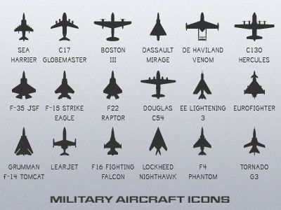 The 18 Military Aircraft Icons I mentioned on the other dribbble. Will be releasing these plus the vectors sometime this week.