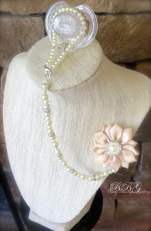 4-en-1 moldeado chupete titular Pinwheel flor por OnlyPealsAndLace