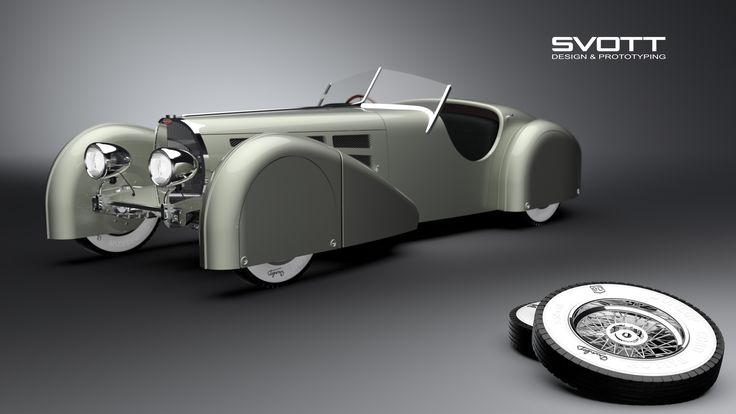 Bugatti 57s roadster SVOTT A-class model