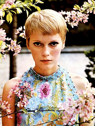 Mia Farrow. Seriously. I need to get my hair/eyes to look that great.