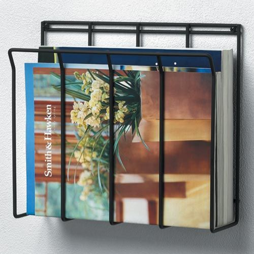 Black Wall Mounted Magazine Rack 13 99 12 W X 10 5 L X 3 25 D Store Organize Magazines Catalogs Broc With Images Magazine Rack Wall Magazine Rack Magazine Holders