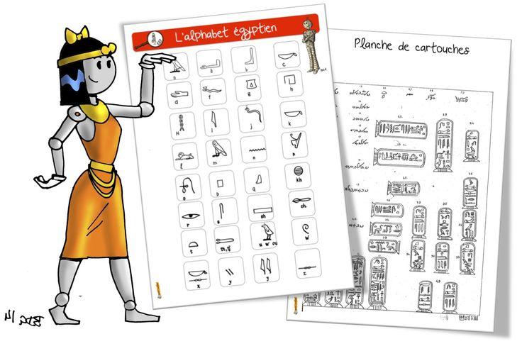 L'alphabet égyptien - Bout de gomme