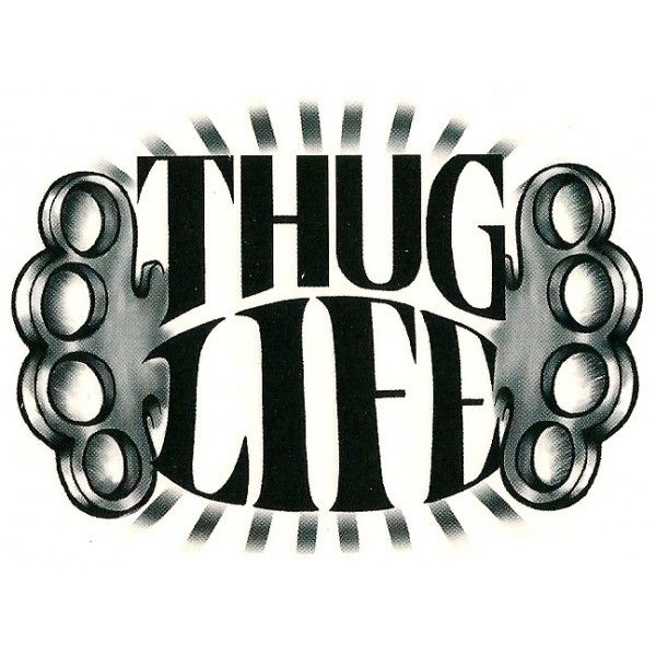 Thug Life Tattoo Design