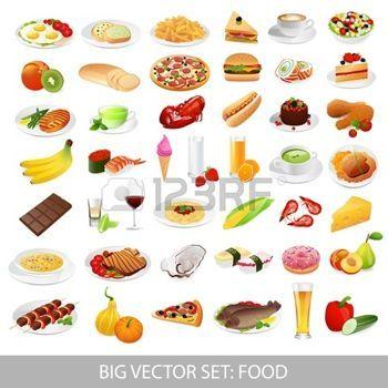 tomatensoep%3A+Big+vector+set+voedsel+diverse+heerlijke+gerechten+-+gedetailleerde+illustraties