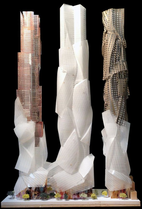 Frank Gehry unveils new designs for King West towers in Toronto.