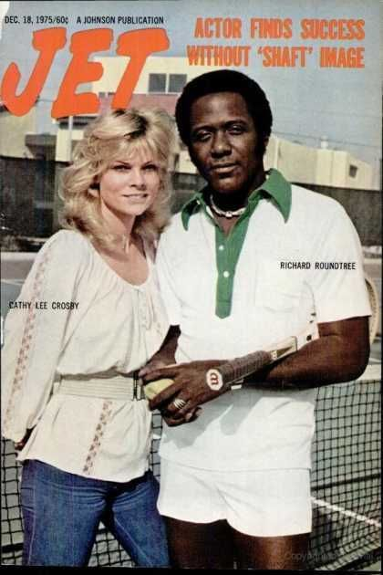 Richard Roundtree, Cathy Lee Crosby - Jet Magazine Cover [United States] (18 December 1975)