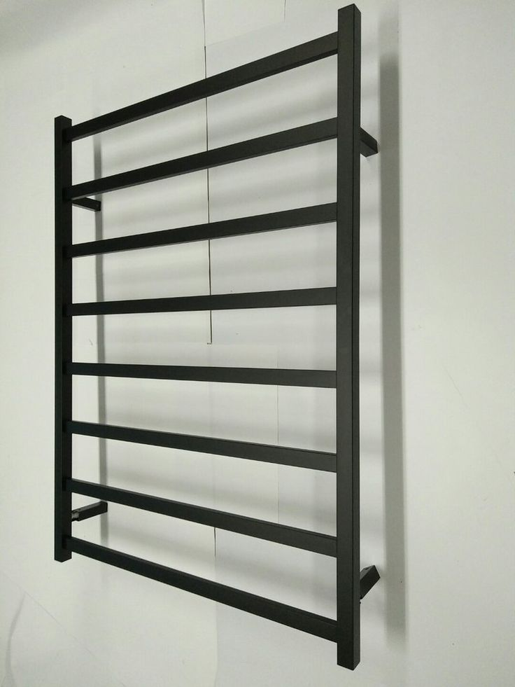 8 bar 32 inch width Stainless steel 304 Electric Heated Towel Rail rack black Matte 110v NEW in USA