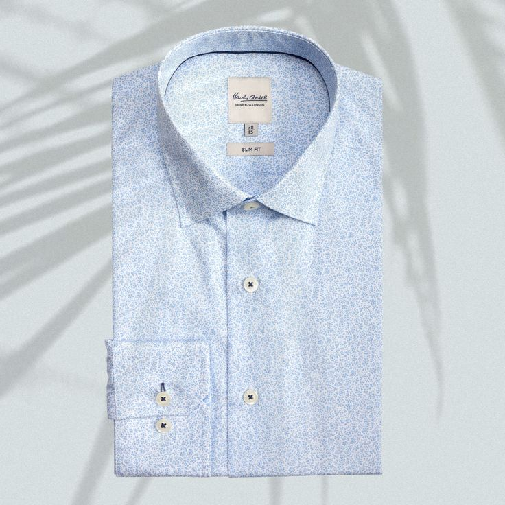 Our Blue Floral Print Business Shirt is one of our best selling styles this spring. Perfect for the races or summer weddings #stylemens #business #afterpay #shirtsformen #hardyamies #groom #style #