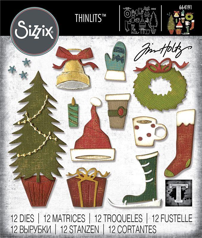 Sizzix Christmas Dies 2021 Sizzix Festive Things Christmas Thinlits Die In 2021 Tim Holtz Tim Holtz Sizzix Sizzix