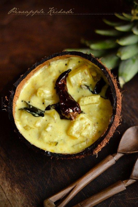 kurryleaves: Pineapple Kichadi | Pineapple in Coconut and Yogurt Sauce| Onam Sadhya Recipe