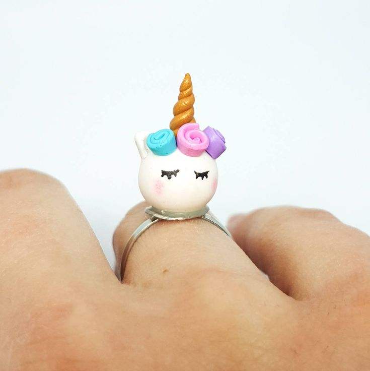 Excited to share the latest addition to my #etsy shop: Unicorn ring/ Fantasy ring/ Polymer clay ring/ Rainbow ring/ Magical jewelry/ Unicorn jewelry/ Kawaii ring/ Cute unicorn http://etsy.me/2HLYgFT