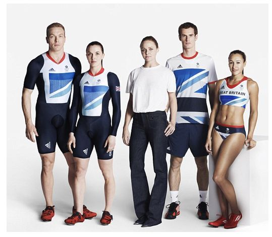 Andy Murray and Team Great Britain Olympic uniforms by Stella McCartney for Adidas.