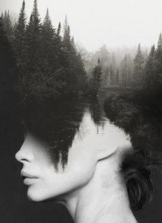 Antonio Mora é um ilustrador espanhol que mistura rostos, paisagens e fotografia abstrata, que resultam em combinações surpreendentes.
