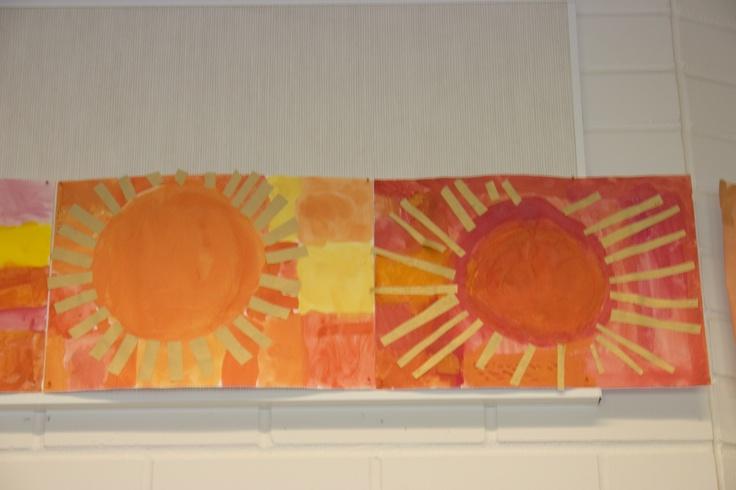 Aurinko - lämpimät värit