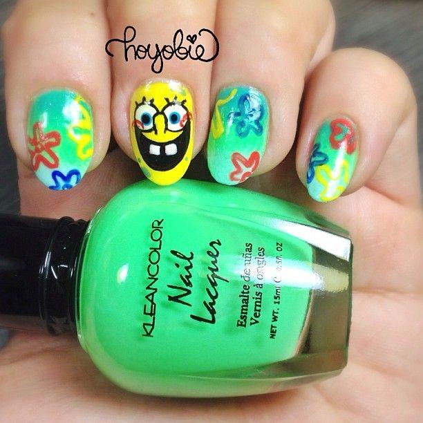 spongebob by hoyobie #nail #nails #nailart