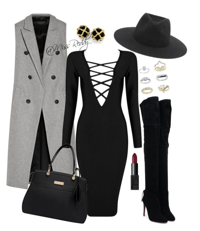 Untitled #32 by missreddy on Polyvore featuring polyvore, fashion, style, Posh Girl, rag & bone, Aquazzura, Topshop and NARS Cosmetics