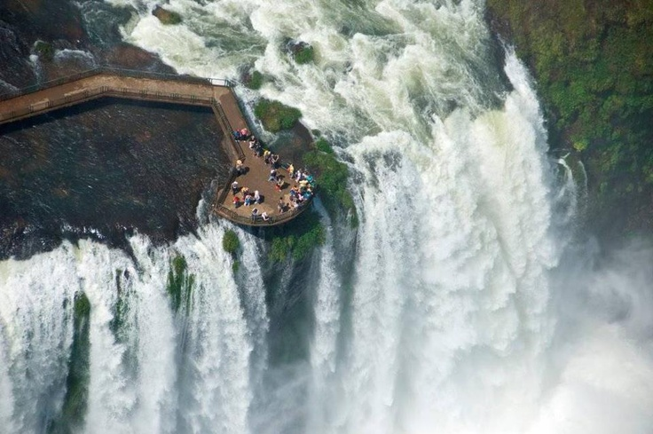 Iguazu Falls on the border of Argentina and Brazil