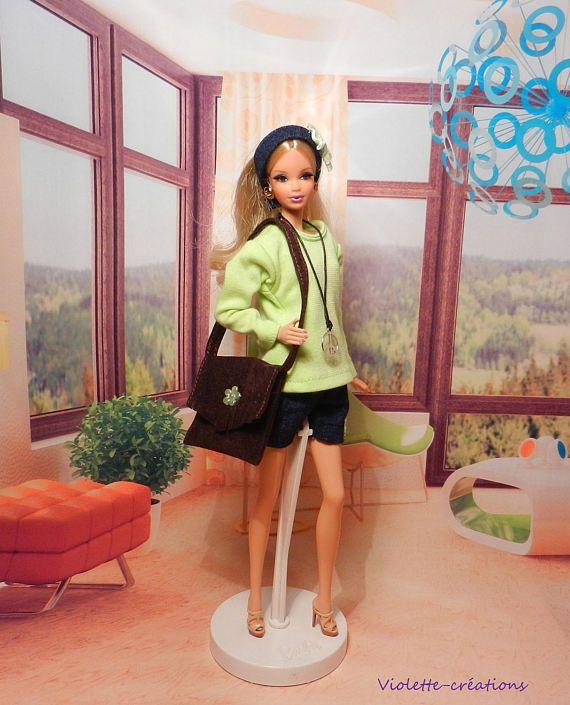 tenue Année 70 pour poupée barbie