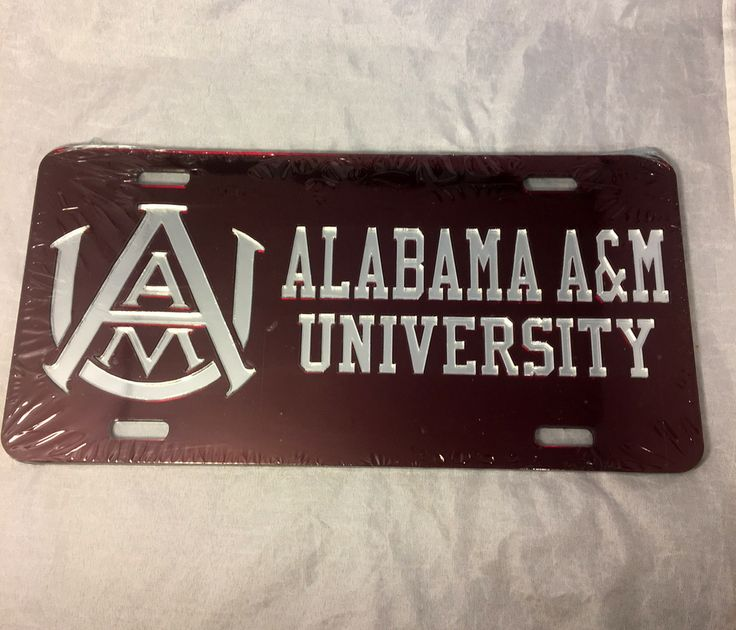 Alabama A&M University License Plate- Style 3 - Brothers and Sisters' Greek Store
