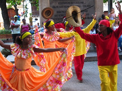Celebrating Christmas Day, Colombian style in Cartagena.